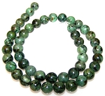 1 Strand of 8mm Round Semiprecious Gemstone Beads - African Turquoise