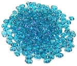 7.5 Grams of MiniDuo Czech Glass Beads - Aqua Luster