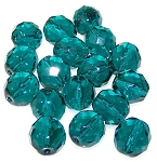 2 Dozen Czech 12mm Fire-Polished - Blue Zircon