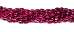 1 Strand of Czech Glass 6x4mm Pearl Beads - Burgundy