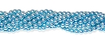 1 Strand of Czech Glass 4mm Pearl Beads - Cerulean