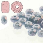 2.5 Grams of 2x3mm Czech Glass Faceted Micro Spacers - Chalk Blue Luster