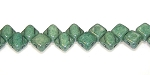 40 Czech Glass Silky 2-Hole 6mm Beads - White Alabaster Green Luster