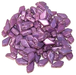 7.5 Grams of 9x5mm Czech Glass Kite Beads - Chalk Purple Vega