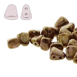 7.5 Grams of NIB-BIT 6x5mm Czech Glass Beads - Chalk Senegal Brown