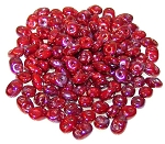 7.5 Grams - Superduo Beads - Nebula Coral Red Matte