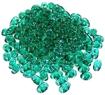 7.5 Grams of MiniDuo Czech Glass Beads - Emerald