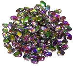 5 Grams of 3x5mm Czech Glass Gekko Beads - Crystal Magic Orchid