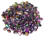 5 Grams of 3x5mm Czech Glass Gekko Beads - Crystal Magic Purple