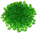 7.5 Grams of MiniDuo Czech Glass Beads - Green