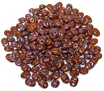 7.5 Grams - Superduo Beads - Nebula Chocolate