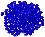 7.5 Grams of MiniDuo Czech Glass Beads - Opaque Blue