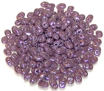 7.5 Grams of MiniDuo Czech Glass Beads - Opaque Light Amethyst Luster