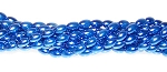 1 Strand of Czech Glass 6x4mm Pearl Beads - Persian Blue