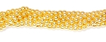 1 Strand of Czech Glass 4mm Pearl Beads - Sun Glow