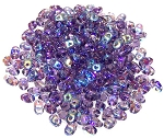 7.5 Grams of MiniDuo Czech Glass Beads - Tanzanite AB