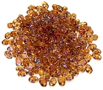 7.5 Grams of MiniDuo Czech Glass Beads - Topaz Celsian