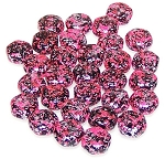 30 Czech Glass 6mm Honeycomb Hex 2-Hole Beads - Tweedy Pink