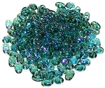 7.5 Grams of MiniDuo Czech Glass Beads - Twilight Aquamarine