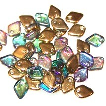 50 Dragon Scale Beads - Crystal Golden Rainbow