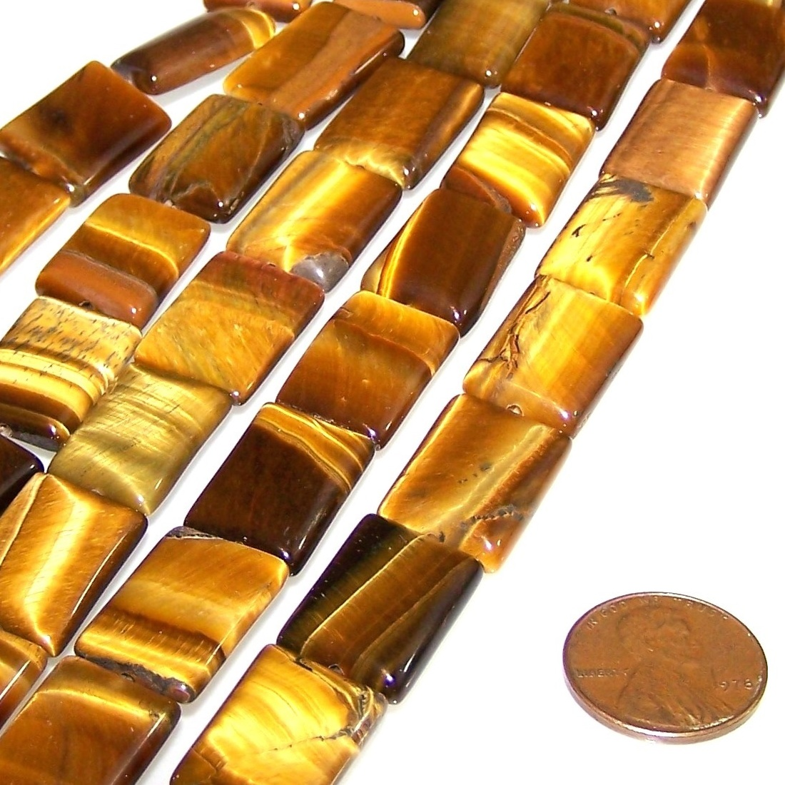 Gemstone Beads - Puff Rectangles - 12x16mm