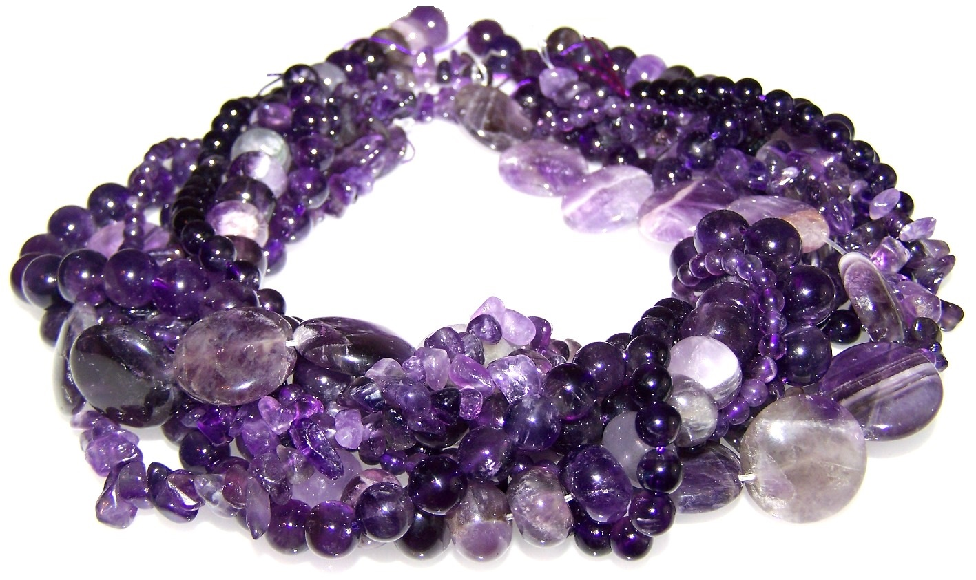 Amethyst Semiprecious Gemstone Bead Assortment