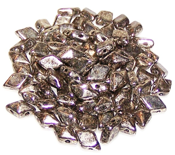 5 G CzechMates Diamant Perles 6x4mm Matte Metallic Lin