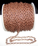 8 Ft (2.5 meters) of Antique Copper Cable Chain 7x5.5mm