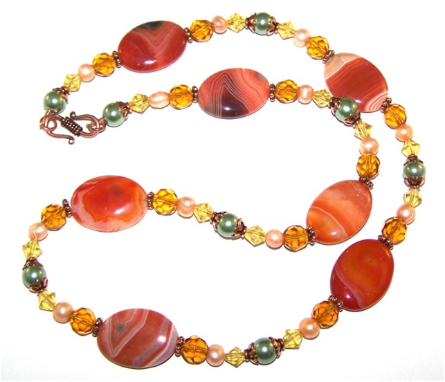 Autumns Arrival Necklace Free Beaded Jewelry Making Pattern