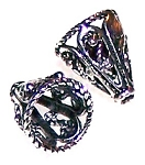9x8mm Ornate Cone Bead Cap