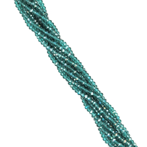 Caribbean 2.5x1.5mm Glass Crystal Mini Rondelle Beads