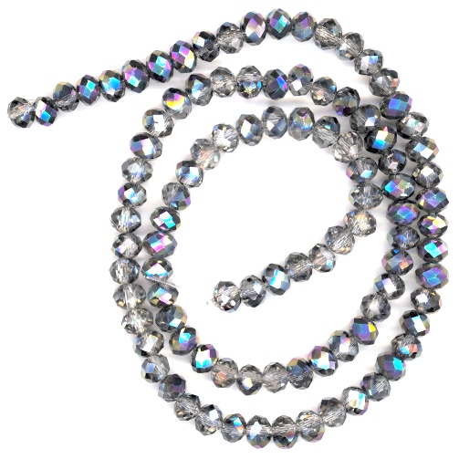 Stellar AB 6x4mm Glass Crystal Rondelle Beads
