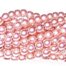 Antique Pink Czech Glass 3mm Pearl Beads