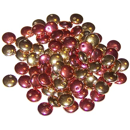 Jet California Gold Rush Lentil Beads