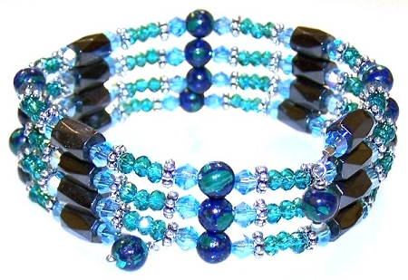 Azurite Twilight Wrap Bracelet Free Beaded Jewelry Making Pattern