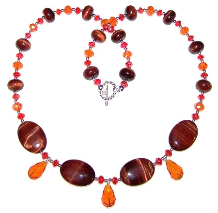 Blazing Tiger Necklace Free Beaded Jewelry Making Pattern