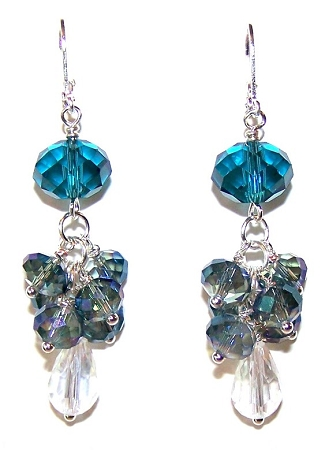 Blue Diamond Paradise Earrings Free Beaded Jewelry Making Pattern