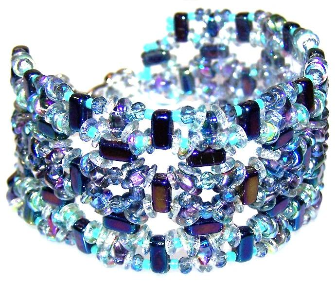 Bead Bracelet Inspired by Michelle Heim's Paragon Cuff