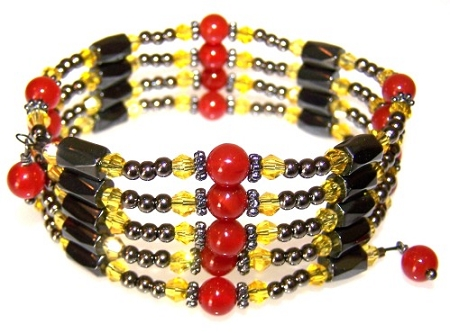 Carnelian Dawn Bracelet Free Beaded Jewelry Making Pattern