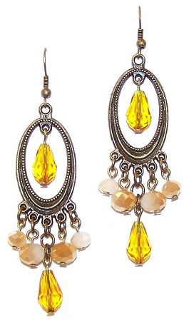 Desert Sunrise Earrings Free Beaded Jewelry Making Pattern