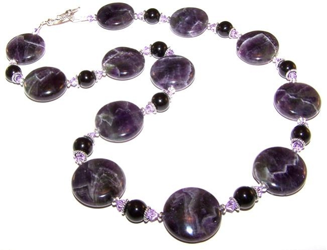 Amethyst Gemstone Bead Necklace