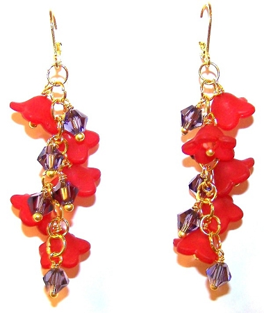 Fanciful Flowers Earrings Free Beaded Jewelry Making Pattern