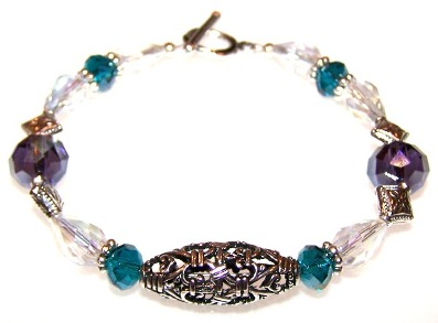 Island Jewel Bracelet Free Beaded Jewelry Making Pattern