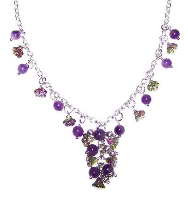 Magic Orchid Necklace Free Beaded Jewelry Making Pattern