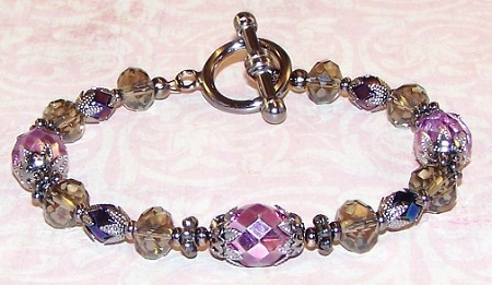 Metallic Purple Bracelet Free Beaded Jewelry Making Pattern