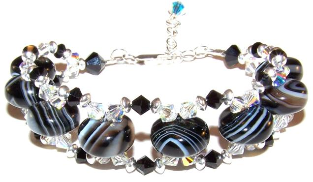 Gemstone Beads on a bracelet