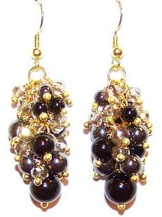 Onyx and Hematite Beauty Earrings Free Beaded Jewelry Making Pattern