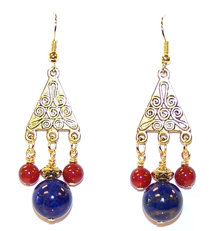 Pharaohs Kiss Earrings Free Beaded Jewelry Making Pattern