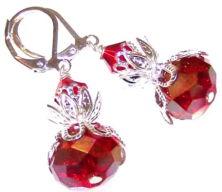 Ravishing Ruby Earrings Free Beaded Jewelry Making Pattern