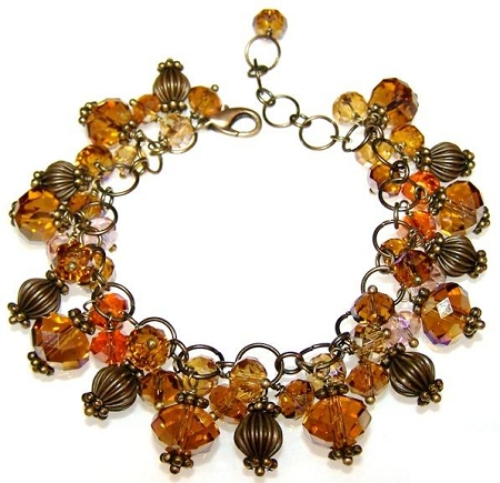 Shimmering Bronze Bracelet Free Beaded Jewelry Making Pattern